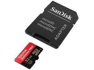 SanDisk 32GB 32G microSDHC Extreme Pro 95MB/s UHS-I U3 4K Class 10 microSD micro SD SDHC C10 633X Card SDSDQXP-032G fit Samsung Galaxy S4 S5 Note with OEM USB 3.0 2 slots Card Reader