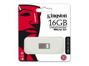 Kingston DataTraveler Micro 3.1 16GB USB 3.1/3.0 16G Type-A Metal Flash Pen Drive DTMC3/16GBwith USB Lanyard