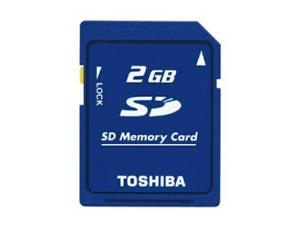 Toshiba 2GB SD 2G SD 2 GB v1.1 Secure Digital Flash Memory Card support old camera Bulk Packing fits Nintendo, Wii