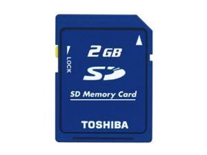 Toshiba 2GB 2G SD 2 GB Secure Digital Flash Memory Card Bulk Packing