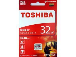 Toshiba 32GB MicroSD 32G MicroSDHC SD SDHC Card UHS-I U1 Class 10 48MB/s Retail with USB 2.0 Reader