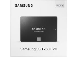 "Samsung 750 EVO 500GB 2.5"" 500G SATA III Internal SSD 3-D 3D Vertical Solid State Drive MZ-750500BW with OEM SSD Case"
