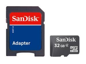 SanDisk Class 4 C4 Ultra microSDHC micro SD HC SDHC TF Memory Card 32G 32GB W/ ADAPTER with Mini M2 USB2.0 card reader - Pack of 2