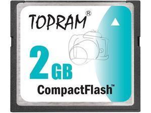 TOPRAM 2GB CF 2G CompactFlash Card Compact Flash Flash - Bulk - OEM