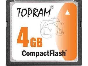 TOPRAM 4GB CF 4G CompactFlash Card Compact Flash Flash - Bulk - OEM