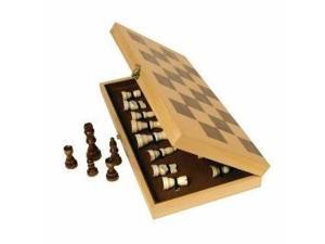 John N. Hansen Classic Wood Folding Chess Set