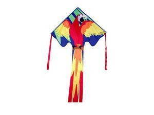 "Large Easy Flyer Kite - Macaw (46"" X 90"") with 300 Ft 30lb Test Kite String and Winder"