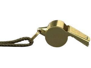 Brass Plated Military Police Whistle