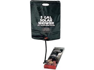 Black Solar Portable Hot Water Camp Shower (5 Gallon)
