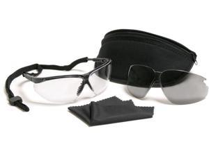 Black & Clear UVEX XC Military Eye Protection Kit