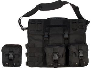 Black Military MOLLE Tactical Shoulder Computer Briefcase