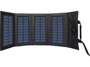 Black Military MOLLE Fold-able Solar Charger