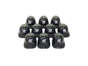 New York Yankees Official MLB 8oz Mini Baseball Helmet Ice Cream Snack Bowls (10) by Rawlings