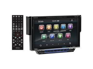 "BOSS AUDIO BV8974B Single-DIN In-Dash 7"" Drop-Down DVD/MP3/CD & AM/FM Receiver w"