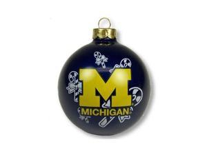 "Michigan Wolverines Official NCAA 3"" Glass Ball Christmas Ornament by Topperscot"