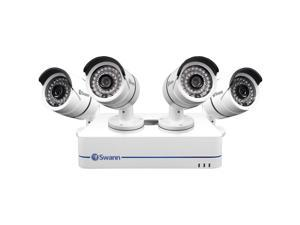 Swann SWNVK-870854 8 Channel NVR w/ 2TB HDD and 4 x HD 720P Day/Night Outdoor PoE IP Cameras