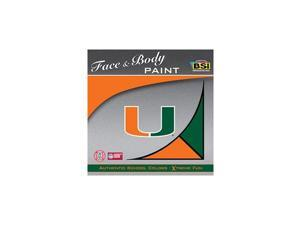 Miami Hurricanes Official NCAA Face Paint by BSI Products 810312