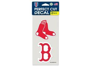 "Boston Red Sox Official MLB 4""x4"" each Die Cut Car Decal 2-Pack by Wincraft"