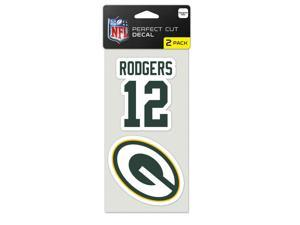 "Green Bay Packers Official NFL 4""x4"" each Die Cut Car Decal 2-Pack by Wincraft"