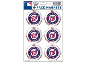 """Washington Nationals Official MLB 2"""" Car Magnet 6-Pack by Wincraft"""