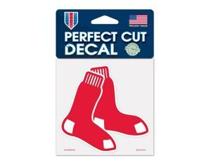 """Boston Red Sox Official MLB 4""""x4"""" Die Cut Car Decal by Wincraft"""