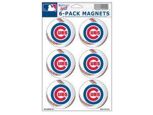 """Chicago Cubs Official MLB 2"""" Car Magnet 6-Pack by Wincraft"""