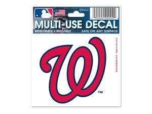 """Washington Nationals Official MLB 3""""x4"""" Car Window Cling Decal by Wincraft"""