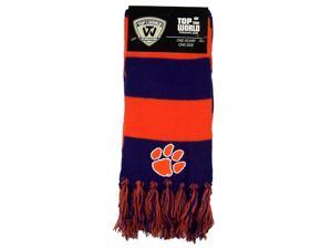 Clemson Tigers Official NCAA Striped Two Tone Scarf by Top of the World 384089