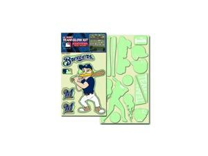 Milwaukee Brewers Official MLB Glow In The Dark Decal Kit by Team Promark 250160