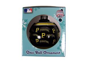 Pittsburgh Pirates Official MLB  Repeat Glass Ball Christmas Ornament by Forever Collectibles