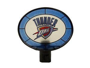 Oklahoma City Thunder Official NBA  Art Glass Night Light by Memory Company