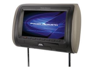 "POWER ACOUSTIK HDVD_71HD 7"" Universal Headrest Monitor with MHL(R) MobileLink & Interchangeable Skins (With DVD Player)"