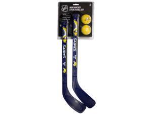 NHL Buffalo Sabres Franklin Sports Team Mini Hockey 2 Piece Stick Set 224241