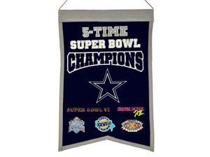 Dallas Cowboys Official NFL  Wool Champions Banner by Winning Streak Sports