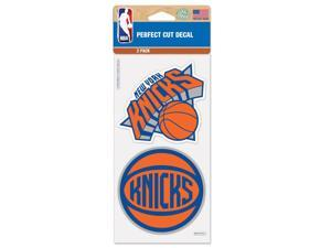 "New York Knicks Official NBA 4""x4"" each Die Cut Car Decal 2-Pack by Wincraft"