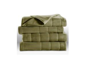 Sunbeam Heated Electric Blanket Royal Dreams Quilted Fleece (Twin Size) - Ivy Green