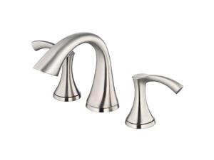 Danze D304022BN Antioch 8 in. Widespread 2-Handle Low-Arc Bathroom Faucet in Bru