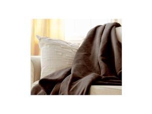Sunbeam Microplush Electric Heated Throw Blanket in Walnut Brown