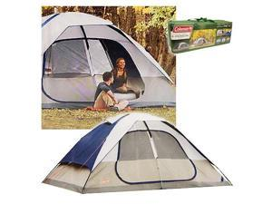 Coleman 2000006233 Glacier Creek 14' x 10' 8 Person 2 Room Camping Tent