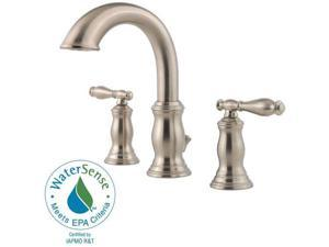 "Pfister F-049-TMKK Classic 8"" Widespread Hanover Lead Free 8"" Widespread Bathroom Faucet Brushed Nickel"