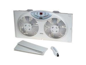 Bionaire BW2300 Twin 3-Speed Window Fan with LCD Screen and Remote Control