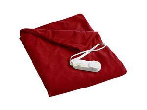Biddeford 4440-907484-300 Comfort Knit Super Soft Heated Throw Blanket Brick Red