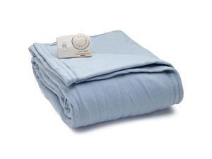 Biddeford 1000-903292-535 Comfort Knit Fleece Electric Heated Blanket Twin Blue