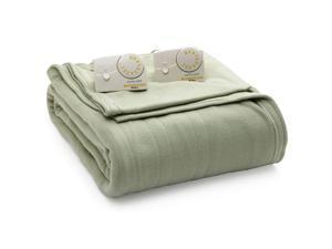Biddeford 1003-903292-633 Comfort Knit Fleece Electric Heated Blanket Queen Sage