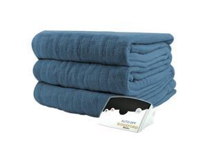 Biddeford 2030-905291-500 Luxurious MicroPlush Electric Heated Blanket Twin Blue