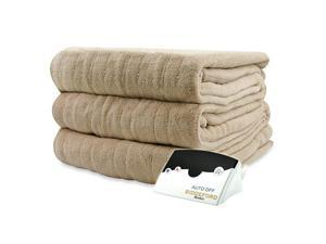 Biddeford 2030-905291-780 MicroPlush Electric Heated Blanket Twin Linen