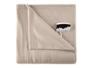 Biddeford 1000-9052106-700 Knit Fleece Electric Heated Blanket Twin Taupe