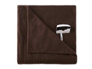 Biddeford 1000-9052106-711 Knit Fleece Electric Heated Blanket Twin Chocolate