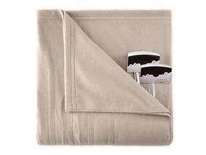 Biddeford 1003-9052106-700 Knit Fleece Electric Heated Blanket Queen Taupe
