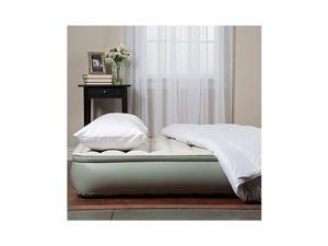 """Aerobed 81021 12"""" Elevated Twin Inflatable Air Bed Mattress with Edge Ring"""